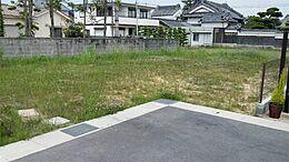 7号地、現地写真です。広々敷地に夢のマイハウスを建築しませんか。