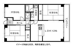 松川ハイツ[1003号室]の間取り