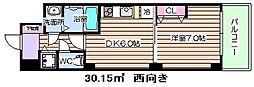 大阪府大阪市北区本庄東1丁目の賃貸マンションの間取り