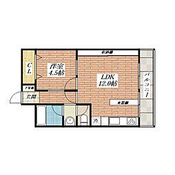 第三マンション南茨木[2階]の間取り