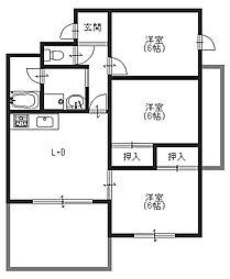 若江北町 オーナーズマンション[601号室]の間取り