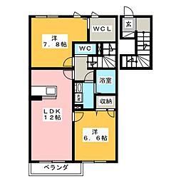 日吉壱番館[2階]の間取り
