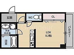 クライス横堤[2階]の間取り