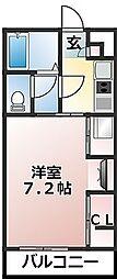 リブリ・パルク津田沼[107号室]の間取り