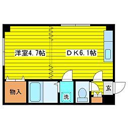 北海道札幌市東区北三十三条東14丁目の賃貸マンションの間取り