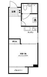 小野木ビル[305号室]の間取り