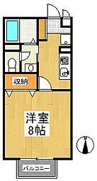 アゼリアコート[1階]の間取り