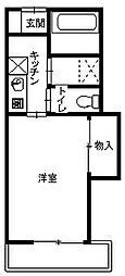 オートハイツ平塚[203号室]の間取り