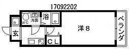 コラボ天王寺[5階]の間取り