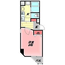守口駅前敷島第2ビル 6階1Kの間取り