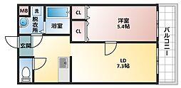 リバーサイド金岡六番館[3階]の間取り