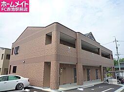 愛知県日進市米野木台2丁目の賃貸アパートの外観