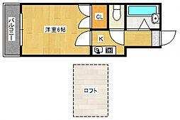 シャトレ津福本町[201号室号室]の間取り