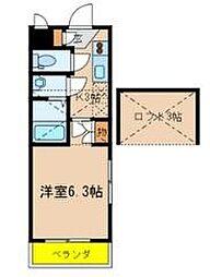 エステート新松戸24[301号室]の間取り