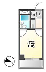 プレズ名古屋鶴舞[6階]の間取り