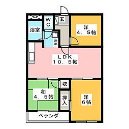 ピュア田中[2階]の間取り