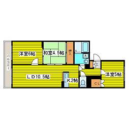 北海道札幌市東区北二十条東10丁目の賃貸マンションの間取り