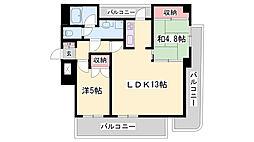 JR播但線 京口駅 徒歩6分の賃貸マンション 7階2LDKの間取り