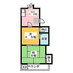 コーポ稲穂[3階]の間取り
