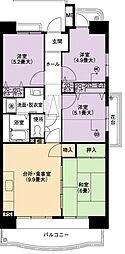 URアーバンラフレ小幡6号棟[8階]の間取り