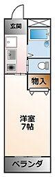 兵庫県西宮市池開町の賃貸マンションの間取り