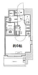 Osaka Metro中央線 九条駅 徒歩6分の賃貸マンション 12階1Kの間取り