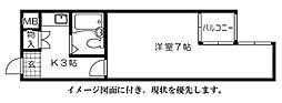 第7片山ビル[202号室]の間取り