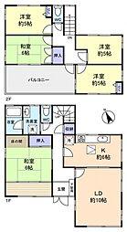[一戸建] 千葉県船橋市田喜野井4丁目 の賃貸【/】の間取り
