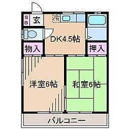 神奈川県川崎市高津区明津の賃貸アパートの間取り
