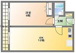 ライオンズマンション日本橋[8階]の間取り