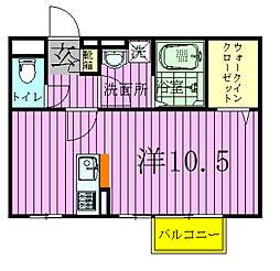 モナリエ古ヶ崎II[202号室]の間取り