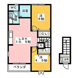 ドミール ミアキ[2階]の間取り