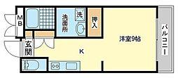 カリヨン三藏田[1階]の間取り