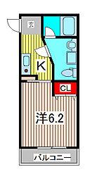 カサデリオ[3階]の間取り