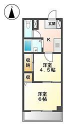 ラフォーレ21[4階]の間取り