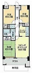 ライオンズマンション蘇我・青葉の森公園五番館[407号室]の間取り