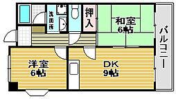 高師浜シーサイドマンション1[302号室]の間取り