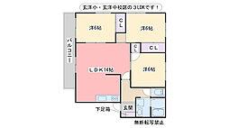 YSC21 B棟[205号室]の間取り