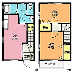 [テラスハウス] 埼玉県北本市本町5丁目 の賃貸【/】の間取り