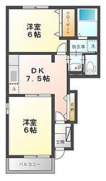 A&KII[1階]の間取り