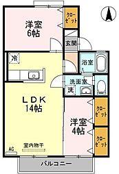 レジデンスIIA棟[2階]の間取り
