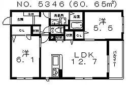 シャーメゾン mai mai[103号室号室]の間取り