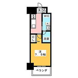 パークアクシス名古屋山王橋 8階1Kの間取り