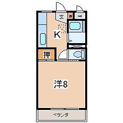 宮田マンション[303号室]の間取り