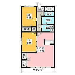 マイタウン松阪[2階]の間取り
