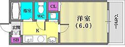 プレサンス神戸裁判所前[5階]の間取り