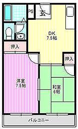 ノルエスタ下島1号館[2階]の間取り