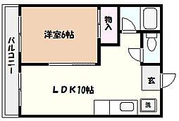 芦屋川マンション[4階]の間取り