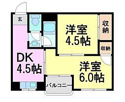 兵庫県尼崎市南城内の賃貸マンションの間取り