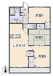 アーバン西岡崎[5階]の間取り